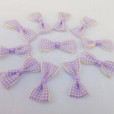Small 3cm Gingham/Check Mini Ribbon Bows,Packs of 10 Crafts,Embellishments