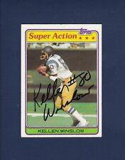 Kellen Winslow signed San Diego Chargers 1981 Topps Super Action football card