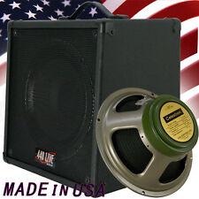 1x12 Guitar Speaker Extension Cabinet W/8 Ohms CELESTION GreenBack Br Blk Tolex