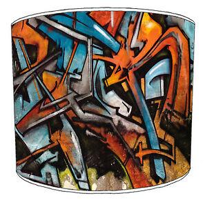 Modern Urban Street Art Graffiti Style Ceiling Light Shades Or Table Lampshades