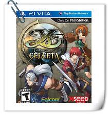PSV Ys: Memories of Celceta 伊苏 塞尔塞塔的树海 中文 英文 Sony Vita Games Xseed RPG