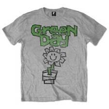 Green Day Pantalón para hombre de color gris Camiseta de manga corta oficial Roc