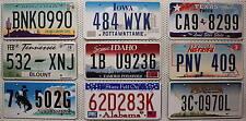 9 Original USA Nummernschilder als SET ~ Kennzeichen Lot US License Plates (pnv)