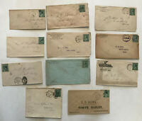 Group of 11 #213 covers various postmarks [y3508]