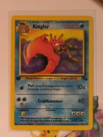 Kingler | NM/M | Fossil 1st Edition 38/62 | Pokemon | English
