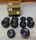 6 Enlarging Lenses - EL-Nikkor, DURST Neonon, Rodenstock, Beslar - 50mm & 80mm