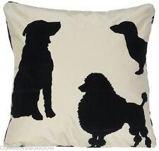 Dogs Cushion Cover Best in Show Silk Fabric Osborne & Little Textile Black Beige