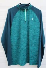 Old Navy Jade Turquoise Running Pullover Jacket Shirt Zip Mens Womens Sz Large