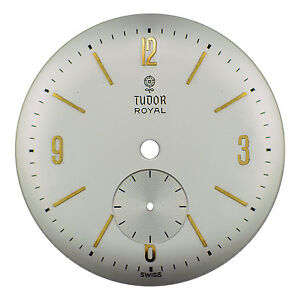 Vintage Orig. NOS Rolex Tudor Royal (Cal. ETA1260) Wristwatch Dial, Swiss 1950s