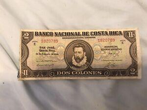 1944 Banco Nacional de Costa Rica 1944 2 Colones banknote
