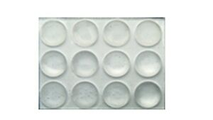 "3/8"" Clear Round Peel-N- Stick Bump-Ons, 144 per sheet"