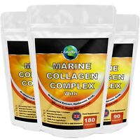 Marine Collagen Complex 2616mg with Hyaluronic Acid & Vitamin C Capsules Tablets