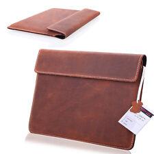 1a cuero genuino Tablet Case slim bolso, funda protectora, estuche, para Onyx Boox note marrón