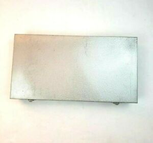 Vintage Brumberger Photo Slide Metal Storage Case Box Silver Gray Grey Memories
