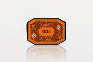12/24V AMBER SIDE LED clearance marker light lamp reflector and cable van tru...