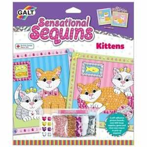 Galt - Sensational Sequins - Kittens    Craft Activity  UK Seller