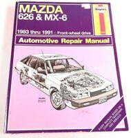 Haynes #61041 MAZDA 626 MX-6 FWD 1983-1991 SERVICE Repair Manual WIRING DIAGRAMS