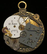 Time Pieces Pin Brooch Steampunk Gears Cogs Clock Watch 1 of a Kind  Mixed Metal