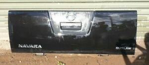 Nissan Navara tailgate, black, '58 plate