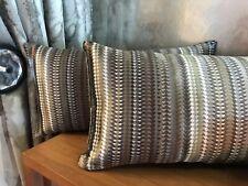 "Pkt 2 Romo Parada Silk Designer 19 X 12"" Cushions"