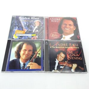 Lot 4 ANDRE RIEU Music CDs IN CONCERT Live Gala Evening 100 Years Strauss Love