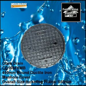 450mm Solid Top Ductile Iron Round Manhole Cover and Frame B125KN CD 1657 KMB