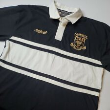 New listing Guinness Official Merchandise Men's Size L Long Sleeve Polo Rugby Shirt