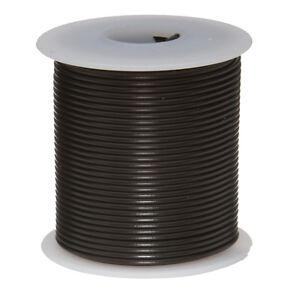 "26 AWG Gauge Solid Hook Up Wire Black 25 ft 0.0190"" UL1007 300 Volts"