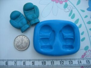 Boxing Gloves Silicone Mould/Mold Sugar Craft, Cupcake Cake Toppers