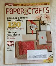 PAPER CRAFTS Magazine for Rubber Stamping and Cards - January / February 2010