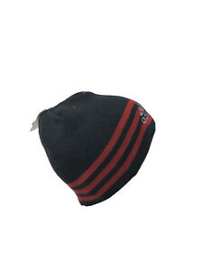Adidas Mens Eclipse Reversible II Beanie Climawarm Black Red One Size