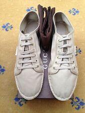 Nuevo Gucci Para Hombre Tenis Tenis Lona Alpargatas Zapatos UK 11.5 nos 12.5 EU 45.5