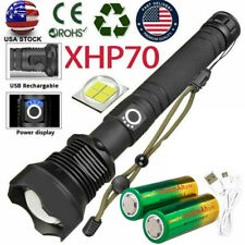 350000lumen  Most Powerful LED flashlight Rechargeable Zoom Torch xhp70