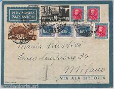 56242 - ERITREA - STORIA POSTALE : BUSTA da ASMARA   a MILANO 1937 - BELLA!