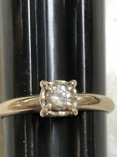 14K white Gold 022CT Natural  Diamond Engagement Ring, Estate Jewelry