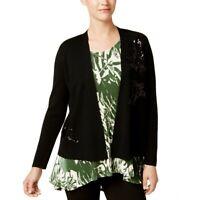 ALFANI NEW Women's Sequined Open Front Cardigan Sweater Top TEDO