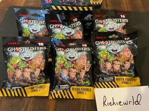 (6X) Factory sealed blind bags of  GHOSTBUSTERS CRYPTOZOIC MICRO FIGURES-VHTF !