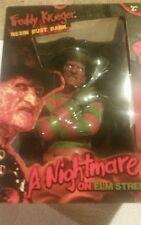 Freddy Krueger Resin Bust Bank - Nightmare On Elm Street Collectible Figure NIB