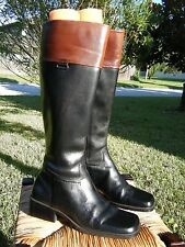 Enzo Angiolini EA Flexo Womens MORNAY BlackBrown Leather Equestrian Tall Boots 6