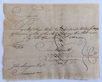 1780 Handwritten Revolutionary War Major Roger Hooker Pay Table Finn Wadsworth