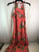 28 Palms Tropical Hawaiian Print Halter Maxi Dress Dresses