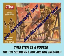 Airfix 1/32 Scale British Paratroops 1st Issue Brown Box A4 Size Poster Artwork