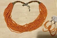 Vintage Susan Graver Multi Strand Beaded Necklace & Earring Set