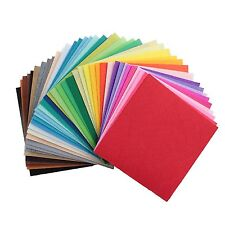 "12"" 40 Pcs Diy Craft Polyester Stiff Felt Fabric Squares Sheets Assorted Colors"