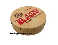 RAW Rolling papers Round Pop-Top Tobacco Smoking Accessories Pocket Storage Tin