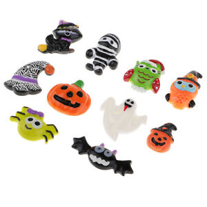 10pcs HALLOWEEN Resin Flatback Cabochon for DIY Hair Bow Center Crafts
