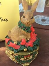 Holiday Playmates Christmas Rabbit Music Box