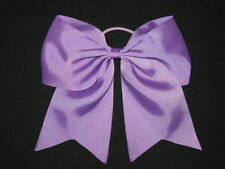"NEW ""LAVENDER"" Cheer Bow Pony Tail 3 Inch Ribbon Girls Hair Bows Cheerleading"
