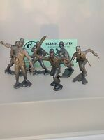 Marx WWII Japanese Soldiers. One Set Of Six, 3.5 Inch Tall, Recast Figures.