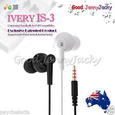 IVERY IS-3 Hi-Fi In Ear Monitor Earphone Earbud with Mic -iPhone Samsung HTC
